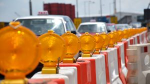 Traffic Barrier with lights